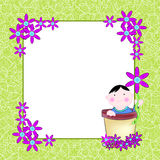 Baby invite card Stock Images