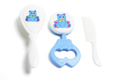 Baby Items. On Isolated White Background stock images