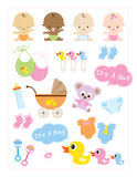 Baby Items royalty free illustration