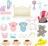 Baby items Stock Photography