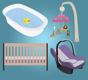 Baby Items Royalty Free Stock Images