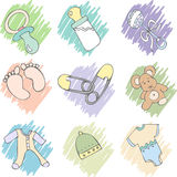 Baby items Stock Image
