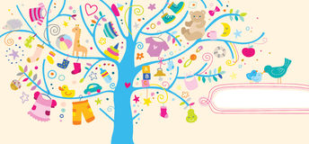 Baby Items Background Royalty Free Stock Photos