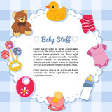 Baby items forming a frame Royalty Free Stock Image