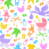 Baby items pattern Royalty Free Stock Images