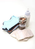 Baby items savings and expenses Stock Photography