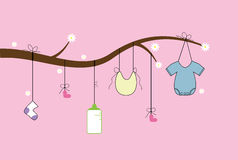 Baby Items Tree Royalty Free Stock Photo