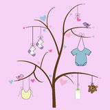 Baby Items on Tree Stock Photo
