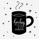 Baby its cold outside Royalty Free Stock Photos