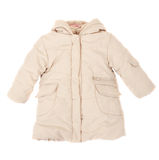 Baby Jacket Insulated On White Background Stock Photography