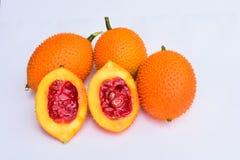 Baby jackfruit. Baby jackfruit on white background Stock Photos