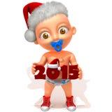 Baby Jake christmas 2015 Royalty Free Stock Image