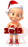 Baby Jake christmas 2015 3d illustration. 3d illustration over white background stock illustration