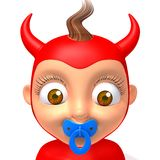Baby Jake devil 3d illustration Stock Photos