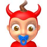Baby Jake devil 3d illustration. Over white background Stock Photos