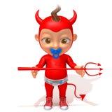 Baby Jake devil 3d illustration. Over white background stock illustration