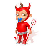 Baby Jake devil 3d illustration Royalty Free Stock Photo