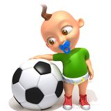 Baby Jake football player. 3d illustration   over white background Stock Image