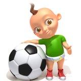 Baby Jake football player 3d illustration. Over white background royalty free illustration