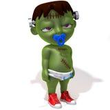 Baby Jake Frankenstein. 3d illustration  isolated over white background Stock Images
