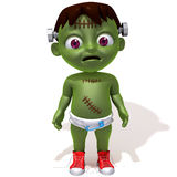 Baby Jake Frankenstein. 3d illustration  isolated over white background Royalty Free Stock Photography