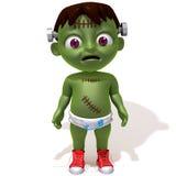 Baby Jake Frankenstein. 3d illustration isolated over white background stock illustration