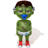 Baby Jake Frankenstein. 3d illustration   over white background Royalty Free Stock Images