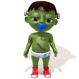 Baby Jake Frankenstein 3d illustration Royalty Free Stock Photography