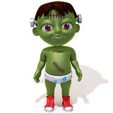 Baby Jake Frankenstein 3d illustration Stock Images