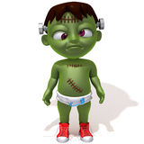 Baby Jake Frankenstein 3d illustration Royalty Free Stock Image