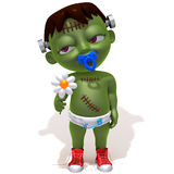 Baby Jake Frankenstein with flower Royalty Free Stock Images