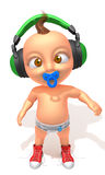 Baby Jake hip hop 3d illustration Stock Image