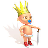 Baby Jake King. 3d illustration  isolated over white background Stock Images