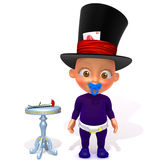 Baby Jake magician 3d illustration Stock Photos