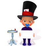 Baby Jake magician 3d illustration Stock Photo