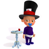 Baby Jake magician 3d illustration Royalty Free Stock Images