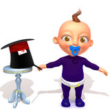 Baby Jake magician 3d illustration Stock Image