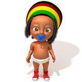 Baby Jake Rastafarian. 3d illustration   over white background Stock Image