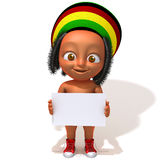 Baby Jake Rastafarian 3d illustration Royalty Free Stock Photos