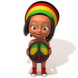 Baby Jake Rastafarian 3d illustration Royalty Free Stock Image