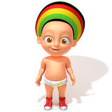 Baby Jake Rastafarian 3d illustration Stock Image
