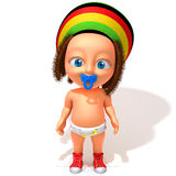 Baby Jake Rastafarian 3d illustration Stock Images