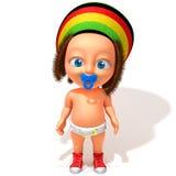 Baby Jake Rastafarian 3d illustration Stock Images