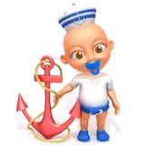 Baby Jake-sailorman 3d Illustration Stockfoto