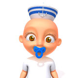 Baby Jake sailorman 3d illustration Royalty Free Stock Images