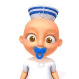 Baby Jake sailorman 3d illustration Royalty Free Stock Images
