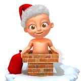 Baby Jake Santa Claus. 3d illustration   over white background Stock Images