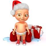 Baby Jake Santa Claus 3d illustration tree 3d illustration Stock Image