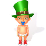 Baby Jake St. Patrick's Day 3d illustration Royalty Free Stock Image