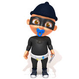 Baby Jake thief 3d illustration Royalty Free Stock Photo